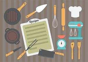 Flat Design Kitchen Equipment Background Download Free