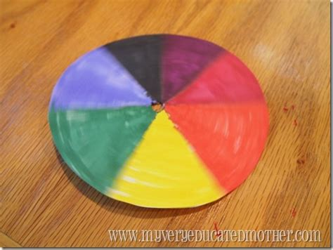 spinning color wheel my educated summer of science spinning color