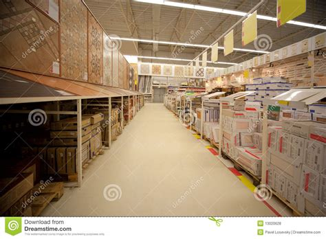 racks with ceramic tile in store royalty free stock photos