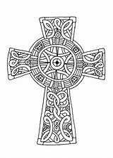 Celtic Cross Coloring Pages Amazing Sheets Crucifix Mandala Printable Adults Drawing Cornish Crosses Colouring Adult Line Patterns Knot Tocolor Place sketch template