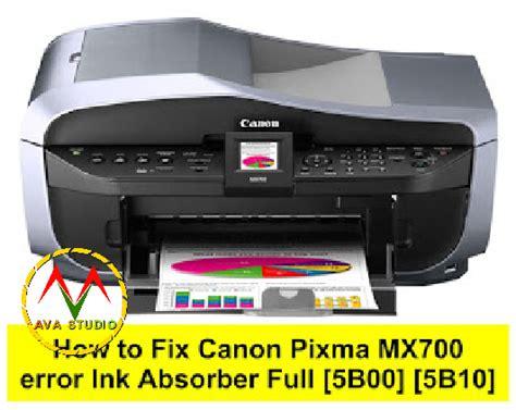 1700 error try this service tool berikut ini tutorial cara mengatasi kode 1700 pada printer canon mg 2570 tanpa perlu mereset dan download sofware. How to Reset Canon Pixma MX700 error Ink Absorber Full ...