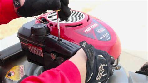 how to clean lawn mower repair briggs stratton lawnmower tune up carburetor clean youtube