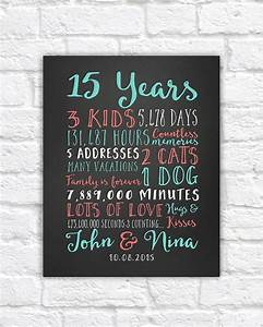 wedding anniversary gifts paper canvas 15 year With 15 wedding anniversary gift