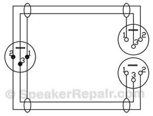 4 pack xlr m to dual xlr f y cable splitter gls audio 37 365 ebay