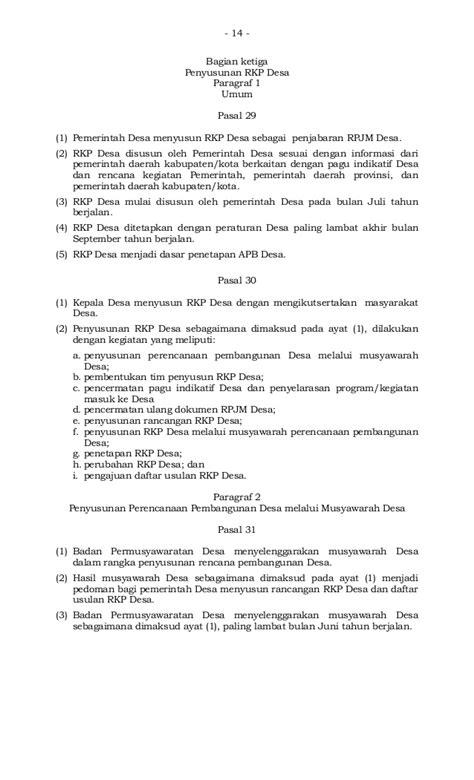 Permendagri nomor 114 tahun 2014