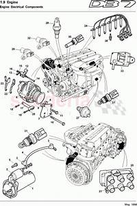 Aston Martin Db7  1997  Engine Electrical Components Parts