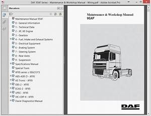 Daf 95xf Series Maintenance And Workshop Manual