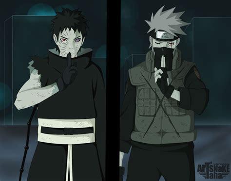 Obito Kakashi Naruto Anime Background Wallpapers On