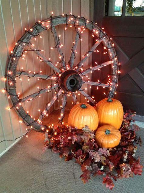 diy string lights ideas  fall porch  yard