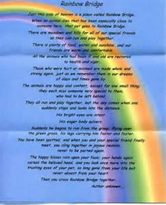 Rainbow Bridge Dog Heaven Poem