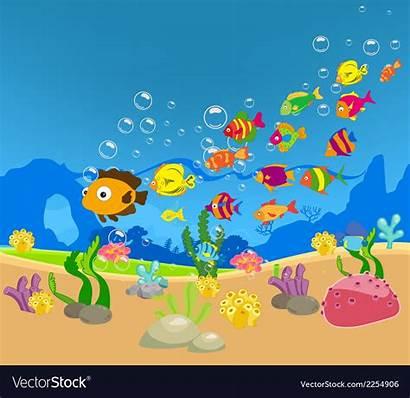 Fish Sea Pesci Mare Nel Dei Cartoon