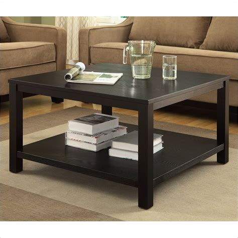 """( 3.7) out of 5 stars. Work Smart Merge 30"""" Square Coffee Table Black Finish ..."""