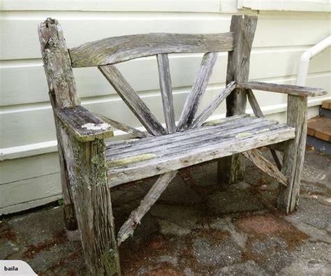 rustic garden seat    totara fence