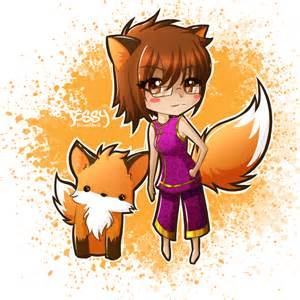 Cute Anime Chibi Fox Girl