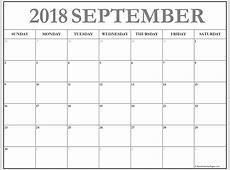 Free Download September 2018 Calendar Template December