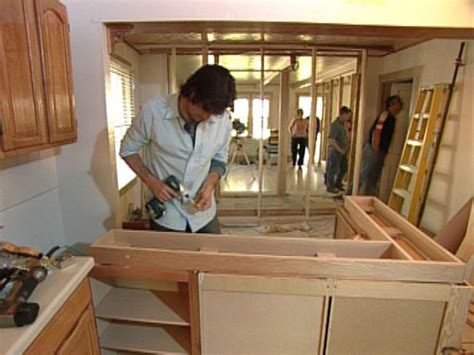 building  kitchen island  cabinets hgtv