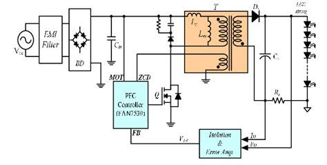 circuit diagram   flyback ac dc converter