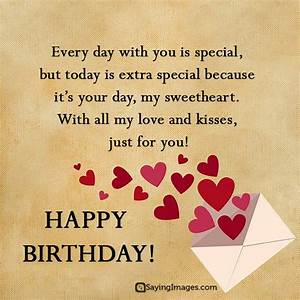 Sweet Happy Birthday Wishes for Boyfriend | SayingImages.com