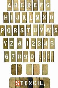 Stencil letters the printed picture a survey of the for Metal engraving stencils lettering