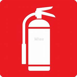 """Fire extinguisher symbol, white on red"" Stickers by Mhea"