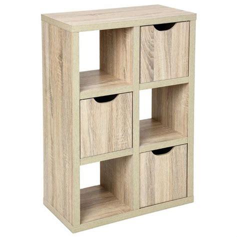 meuble de cuisine rangement meuble d 39 appoint étagère design 6 cubes 3 portes en bois