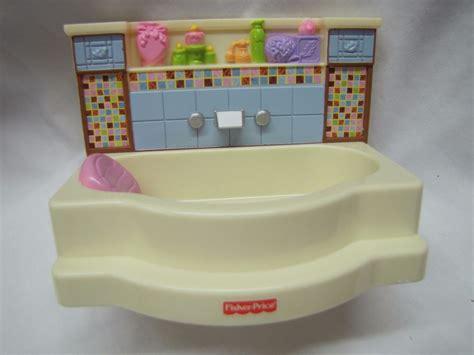 fisher price bathtub new fisher price loving family dollhouse bathroom bathtub