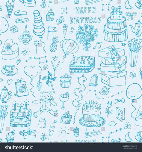 happy birthday pattern stock vector 347894318