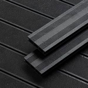 Lame Terrasse Composite : lame composite noire 12 75 x 240 x 2 8 ~ Premium-room.com Idées de Décoration
