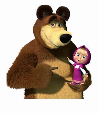 Masha Bear Clipart Transparent Cartoongoodies Holding Arm