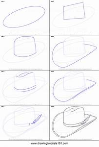 How to Draw Cowboy Hat printable step by step drawing ...