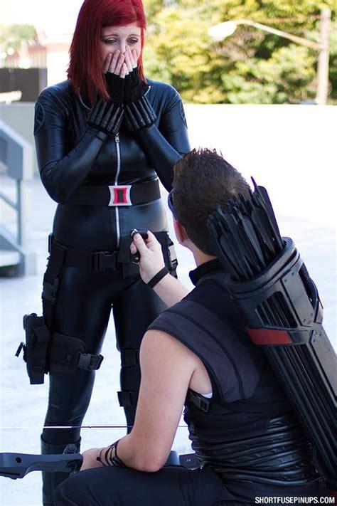 Black Widow Hawkeye Cosplay Dragon Con