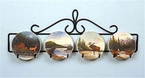 small horizontal plate holder wall hanger   approx  plate display black ebay