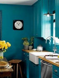 the kitchen can be blue happy on pinterest With kitchen colors with white cabinets with peacock wall art pier one