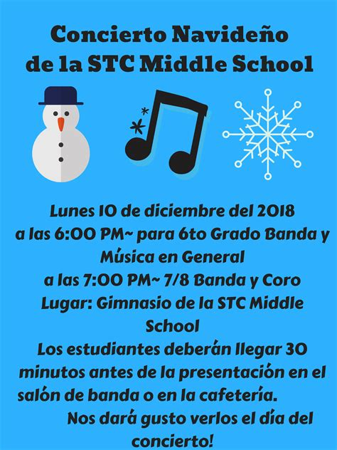 stc middle school winter concert south tama county community school
