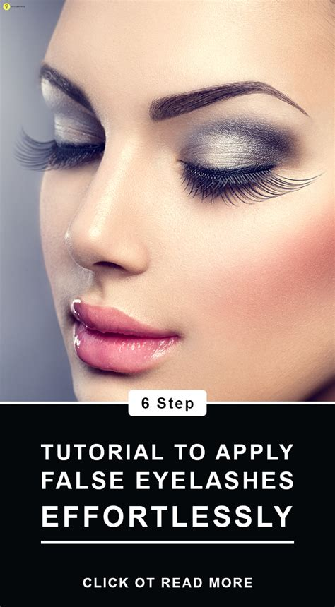 apply false eyelashes stepwise tutorial  tips