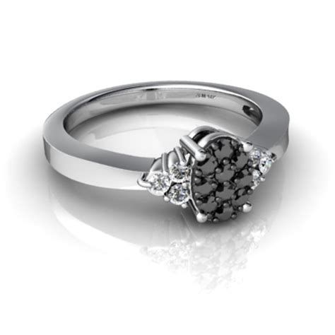 classic wedding rings with black and white diamonds for sale online