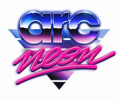 Retro 80s Synthwave Logos Clipart Font 80