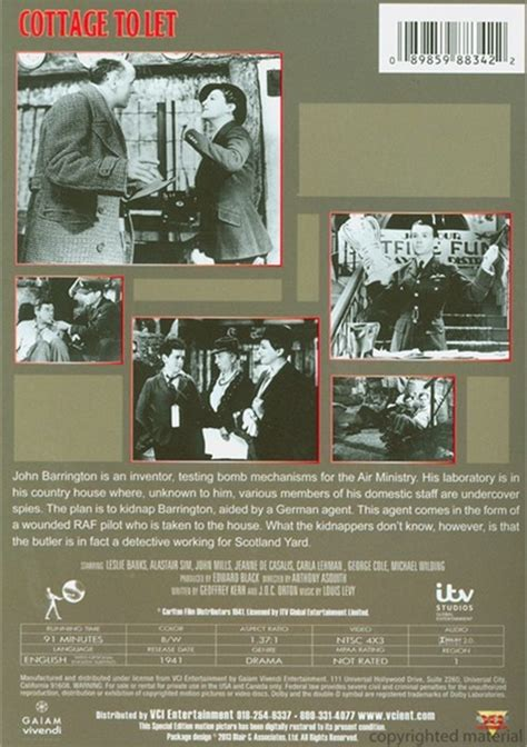 Cottage To Let Cottage To Let Dvd 1941 Dvd Empire