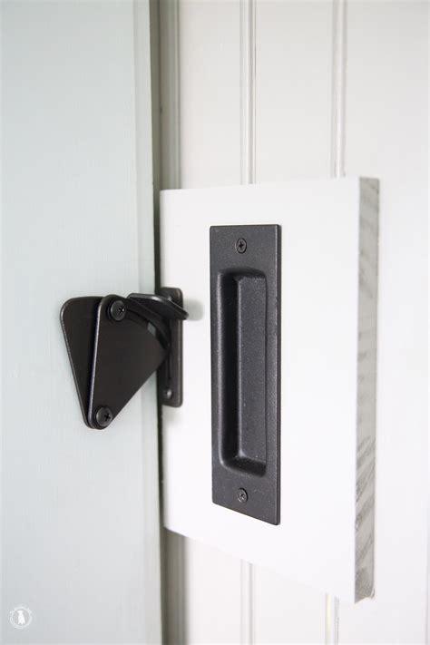 barn door locks diy add a lock to a barn door the handmade home