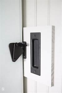 diy add a lock to a barn door the handmade home With barn door locking handles