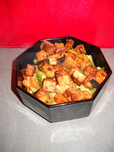 cuisiner tofu poele tofu poêlé sauce maggi et soja pachaikili bouffe les