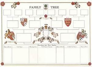 Blank A2 Family Tree Chart - S&N Genealogy Supplies
