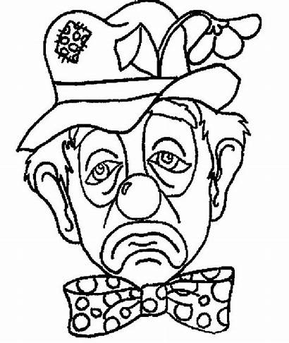Clown Coloring Printable Pages Clowns Pennywise Scary