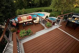 Composite Deck Bench Designs Trex Deck Designs Pictures Home Design Ideas
