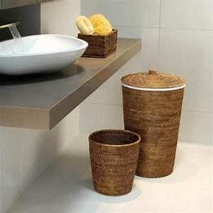 Panier A Linge Design : set panier linge et corbeille papier basket decor walther ~ Teatrodelosmanantiales.com Idées de Décoration