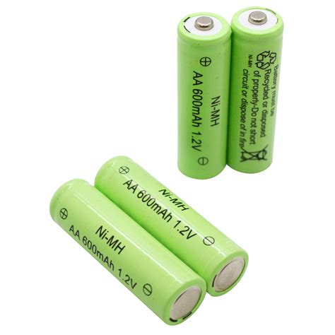 12 x aa ni mh 600mah solar lights rechargeable battery
