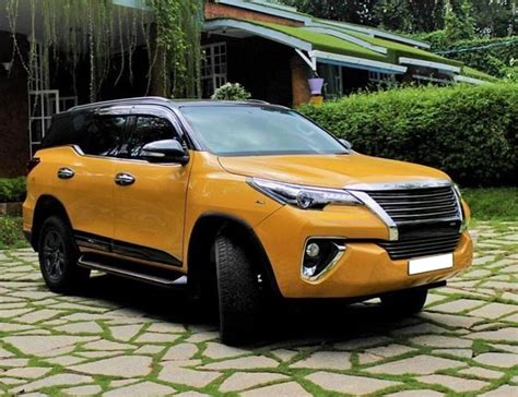 This Modified Toyota Fortuner With Black & Yellow Exterior ...