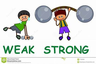 Weak Strong Clipart Clip Kid Opposites Clipground