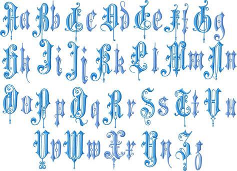 vintage english font   upper   case