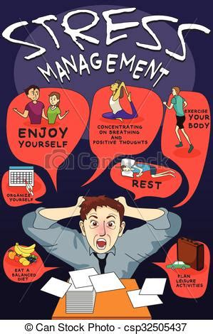 stress management infographic  vector illustration